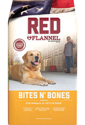 Image of Red Flannel® Bites N' Bones Active Dog Formula Dog Food bag