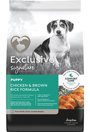 Image of Exclusive® Signature Puppy Formula Dog Food bag