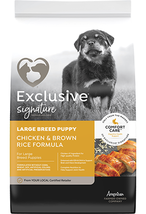 Image of Exclusive® Signature Large Breed Puppy Formula Dog Food bag
