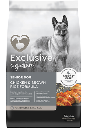 Image of Exclusive® Signature Senior Adult Formula Dog Food bag
