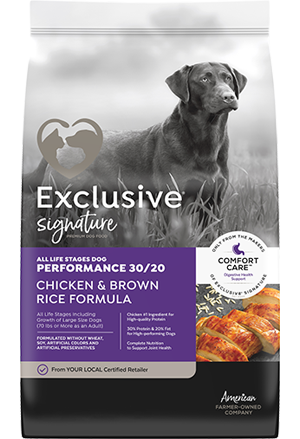 Image of Exclusive® Signature Performance 30/20 All Life Stages Dog Food bag
