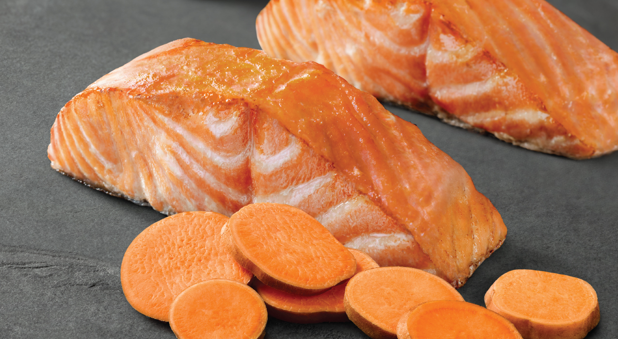 Image of salmon and sweet potatoes