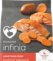 Image of Infinia® ZenFood® Salmon & Sweet Potato Dog Food bag