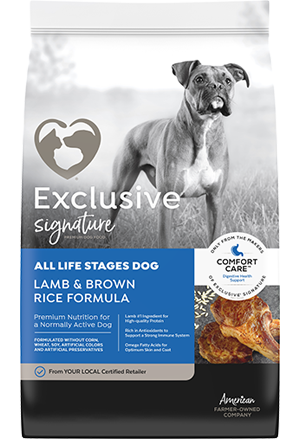 Image of Exclusive® Signature All Life Stages Formula Dog Food bag