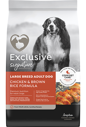 Image of Exclusive® Signature Large Breed Adult Formula Dog Food bag
