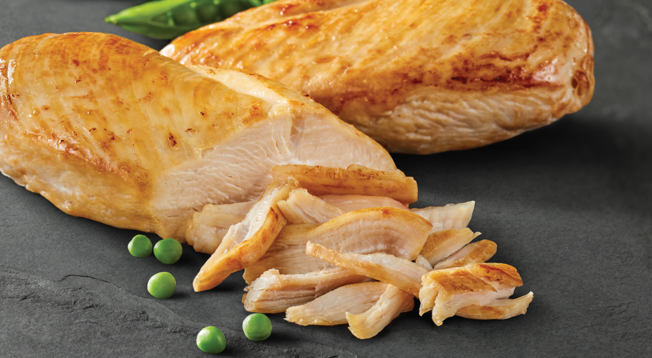 Image of chicken and peas
